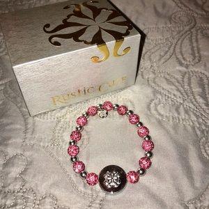 💫RUSTIC CUFF - Brandi Stone Bracelet PINK
